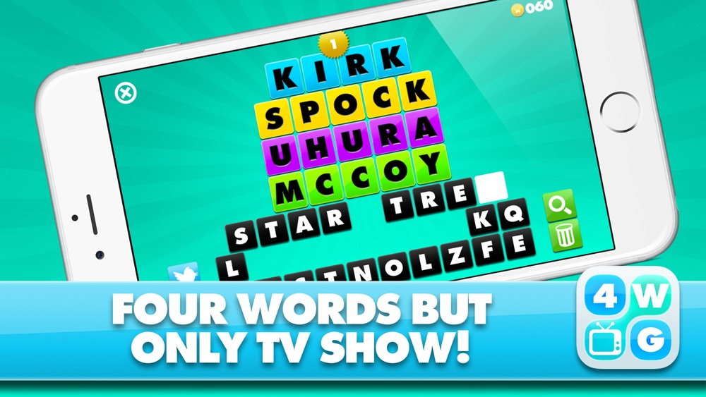 4 Word TV Game – Find the link and guess the TV show