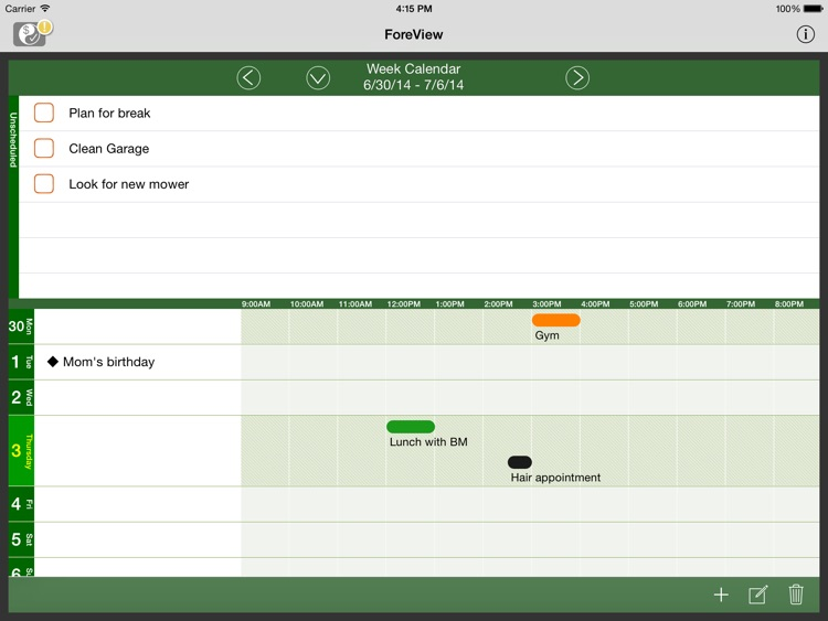 ForeView for iPad:To Do + Bills Tracker screenshot-4