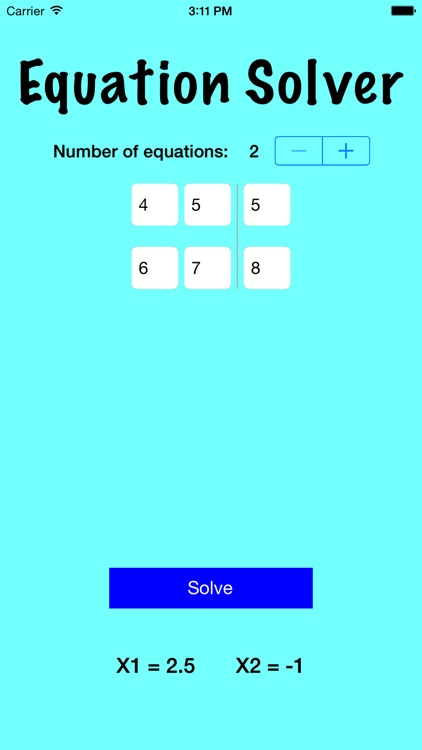 System of Equations Solver by Game Wizard