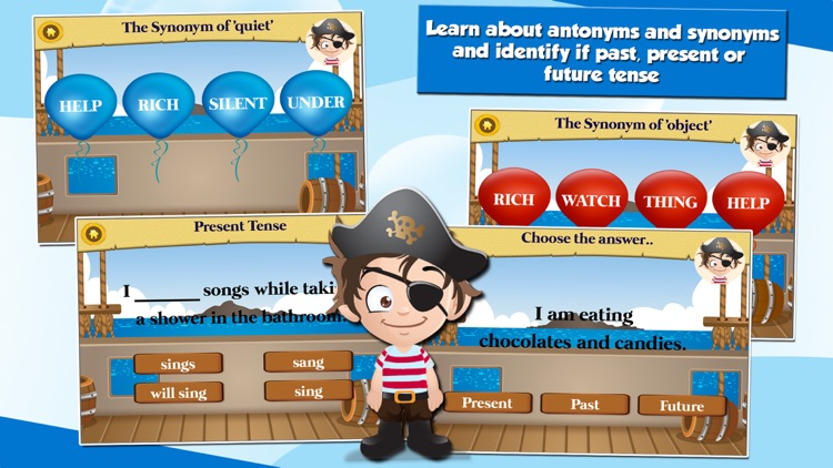 Pirate Kids 2nd Grade Math and English Educational Games School Edition screenshot-4