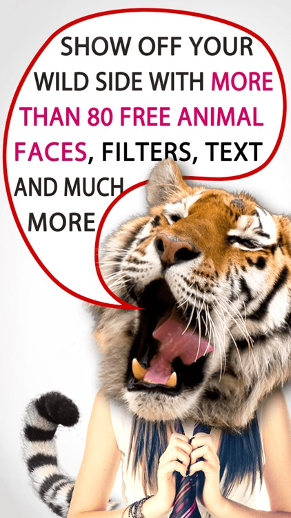 My Animal Face Blender – Show off your wild side by adding animal faces and tails to your pictures (perfect for selfies) screenshot-0