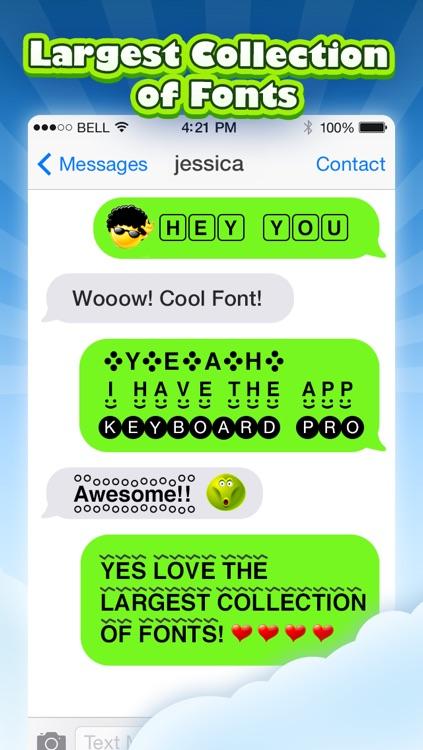 Keyboard Pro - 3D Animated Emoji and Cool Fonts screenshot-3