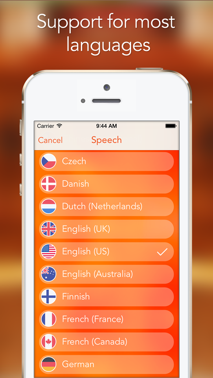 Speech Recogniser: Convert your voice to text with this dictation app. Screenshot