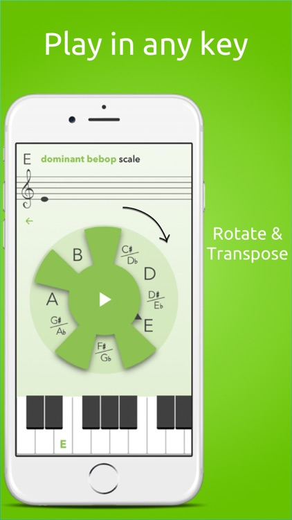 MusiClock - Scale trainer and improvisation practice tool for piano and guitar with scale charts and jam backing tracks screenshot-3