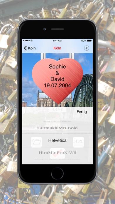 LoveBridge App - Love lock virtual - Virtuelle LiebesschlösserScreenshot von 4