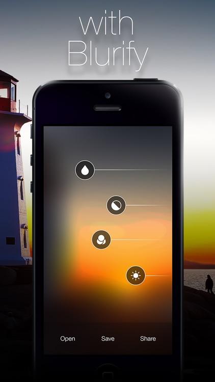 Blurify - Create custom blurred iOS 7 style background wallpapers screenshot-4