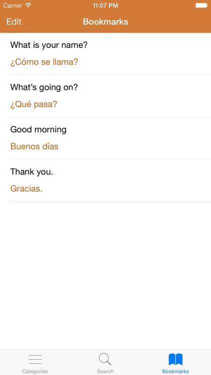 Spanish Phrasebook: Conversational Spanish screenshot-4