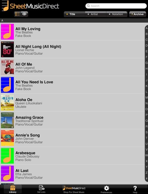 SheetMusicDirect.us screenshot-4