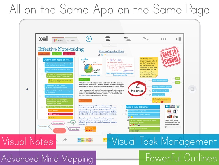 MagicalPad: Notes, Mind Maps, Outlines and Tasks - All in one screenshot-0