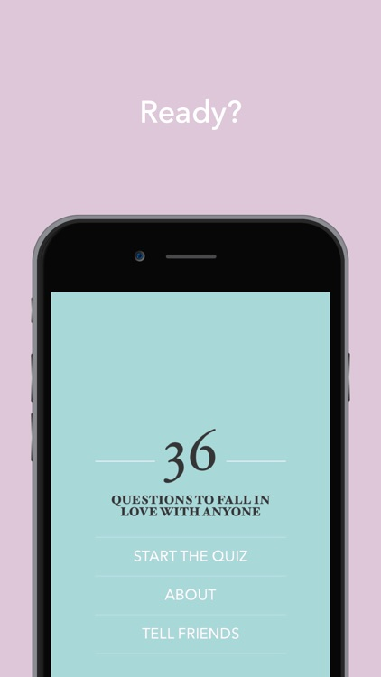 36 Questions To Fall In Love With Anyone screenshot-3
