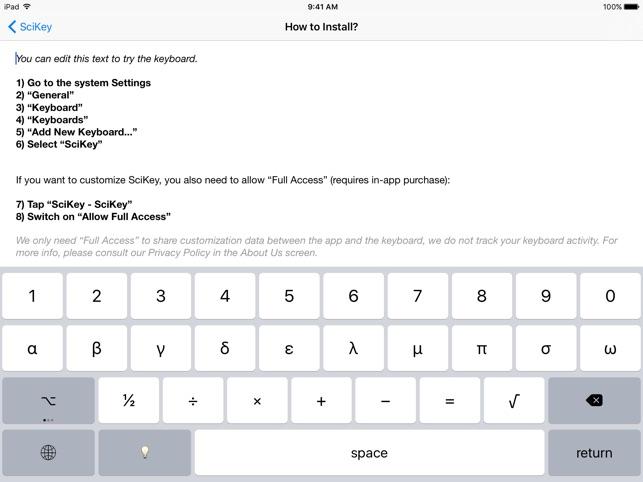 SciKey - Scientific Keyboard on the App Store