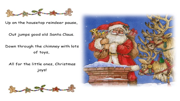 Up On The Housetop - Read along interactive Christmas eBook, songbook for kids, parents and teacher