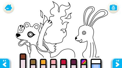【無料版】カチカチ山(やま) ~ぬりえで遊べる赤ちゃん・子供向けのアニメで動く絵本アプリ:えほんであそぼ!じゃじゃじゃじゃん童謡シリーズのおすすめ画像5