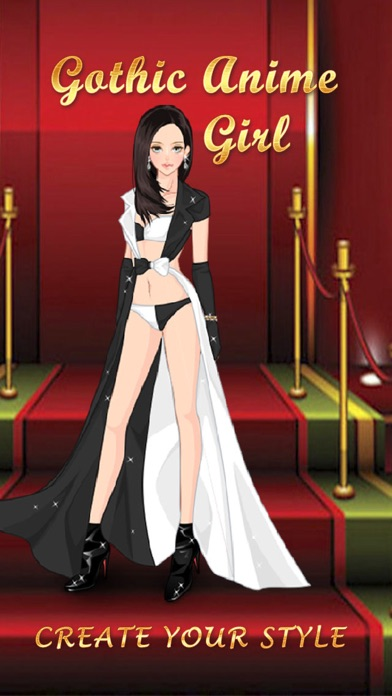 Gothic Anime Girl Salon. Pretty makeover game about crazy dresses. for Pc