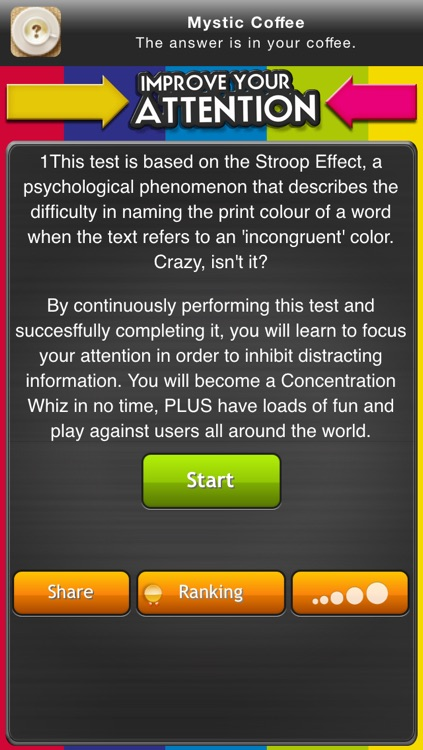 Improve your attention: test your reaction rate