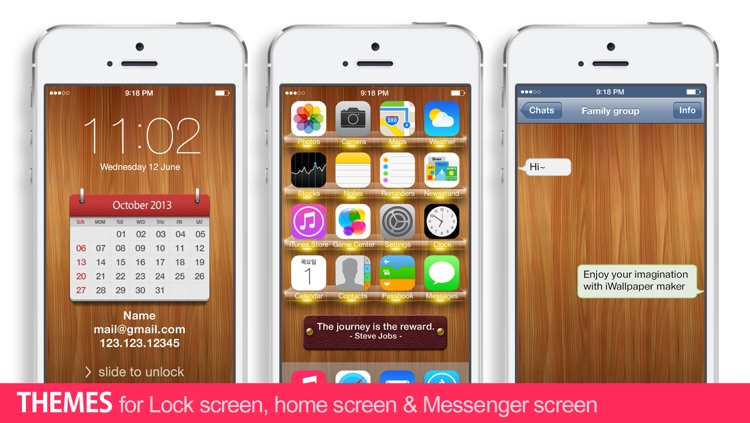 iWallpaper Maker : Custom theme Wallpapers ( for home screen, lock screen, kakao, whatsapp, Messenger)