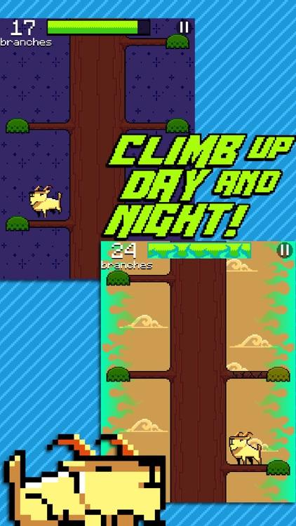 Goat Up! Mountain Goats Climb Timber Trees screenshot-3