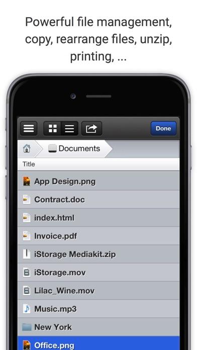 iStorage 2 for FTP, WebDAV, Dropbox, MS Skydrive and Cloud screenshot three