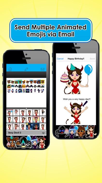 Emoji Kingdom 16 Free Spider Halloween Emoticon Animated for iOS 8 screenshot-3