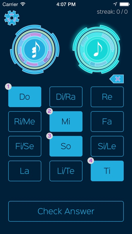Relative - Absolute Solfege Ear Trainer - Tips for Android