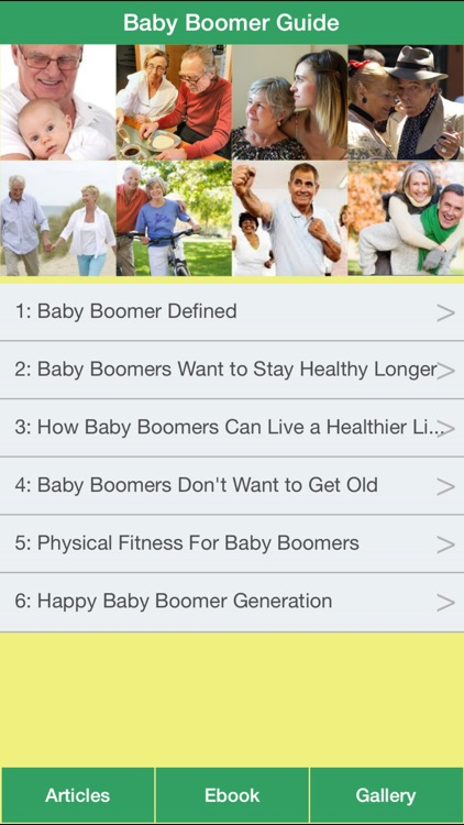 Baby Boomer Guide - The Baby Boomer's Guide To Living A Long & Healthy Life screenshot-0