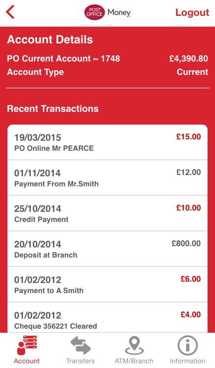 Post Office Money Current Account