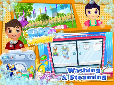 Baby Clothes Kids Laundry Time - Washing & Dry Cleaning Mommy's Little Helper-ipad-3