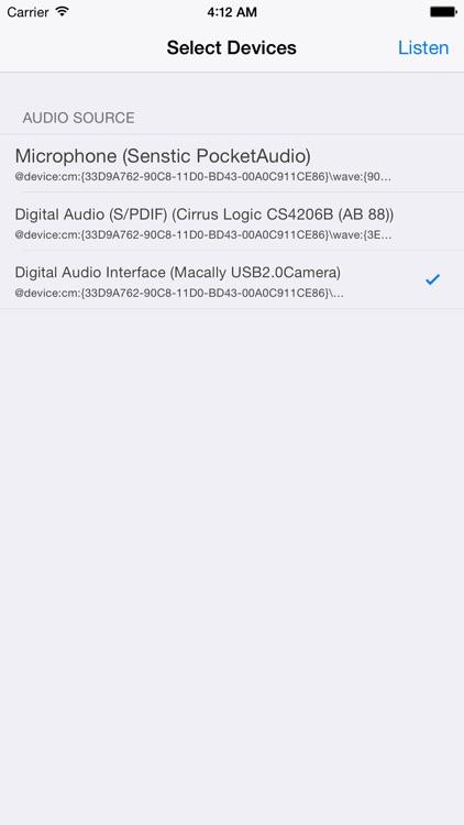 Air Mic Live Audio screenshot-4