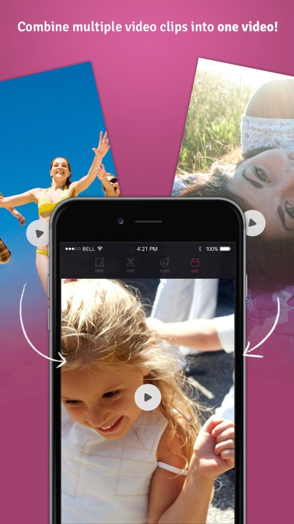 Combine Video Pro - Blend Multiple Movie Clips Together into One Video with Music