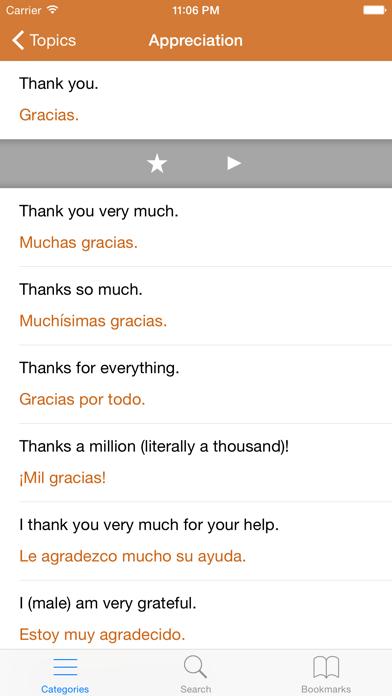 Spanish Phrasebook: Conversational Spanishのおすすめ画像2