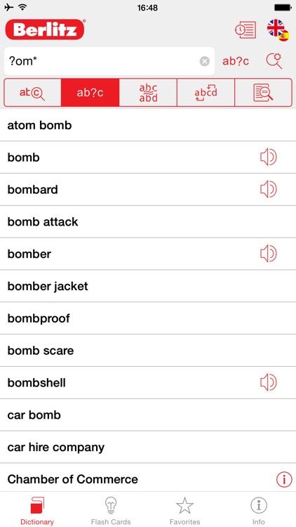 English - Spanish Berlitz Basic Talking Dictionary screenshot-3