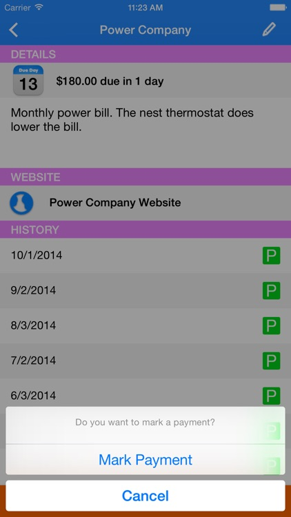 Simple Bill Tracking and Reminders screenshot-3