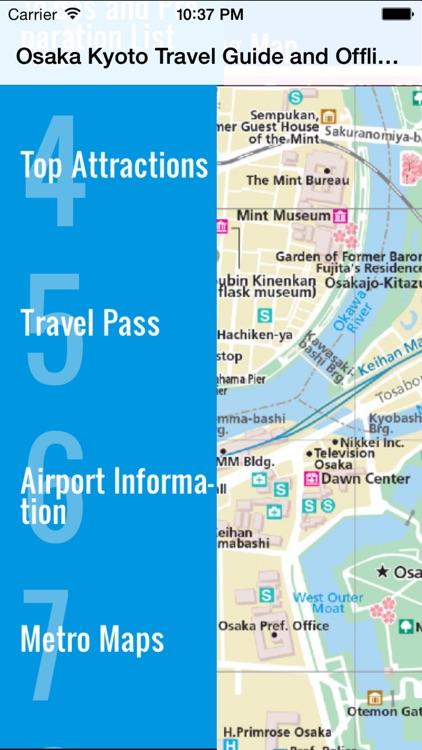 Osaka and Kyoto travel guide and offline map metro subway travel maps sightseeing trip advisor