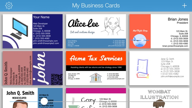 BusinessCardMaker for iOS - Design and print a business card