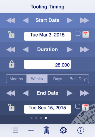 Screenshot of Date Wheel date calculator