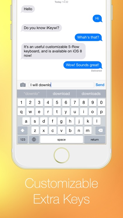 iKeywi - Customizable 5-Row Keyboard