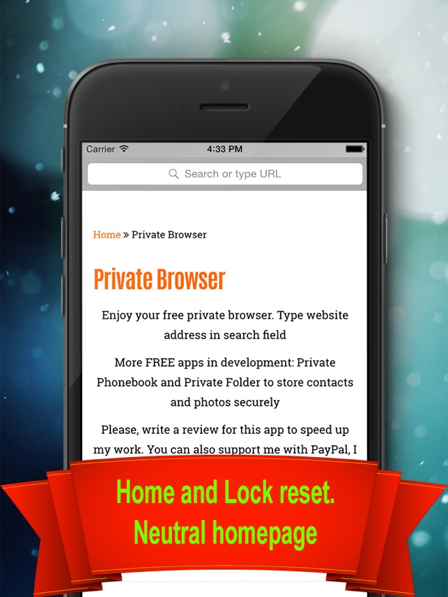Private Browser - Private & Anonymous web browser Screenshot
