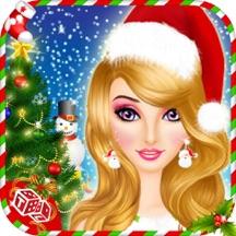 Christmas Salon - XMas Santa Girl Makeup and Dress up Game in Real 3D Winter Snowfall