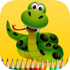 Activities of Snake Coloring Book for Children: Learn to color a cobra, boa, anaconda and more