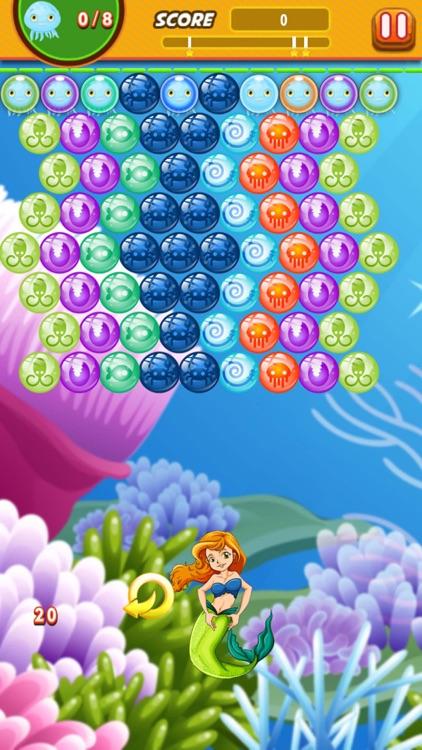 Bubble Shooter Mermaid Ocean : Claim to the throne screenshot-4
