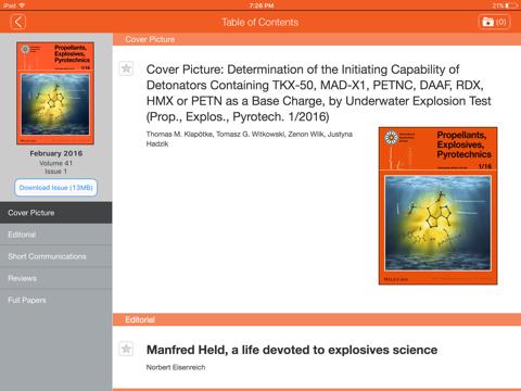 Screenshot of Propellants, Explosives, Pyrotechnics