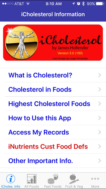 iCholesterol - iNutrient: Dietary Cholesterol screenshot-0