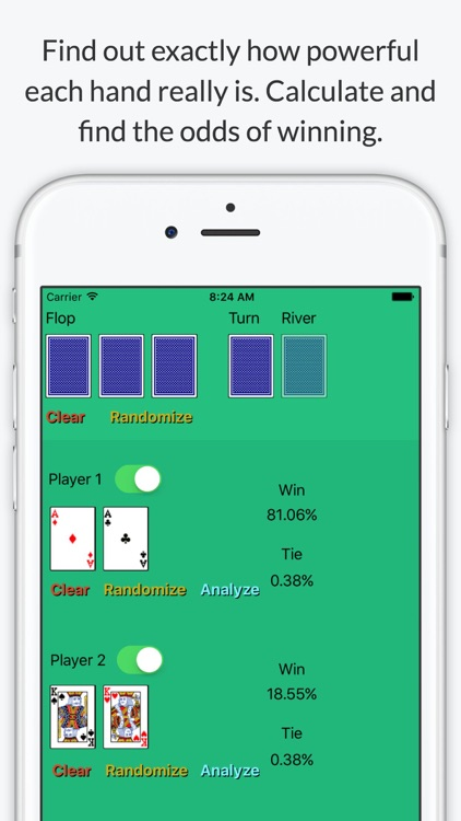 Texas Holdem Poker Odds Calculator - Calculate chances to win screenshot-0