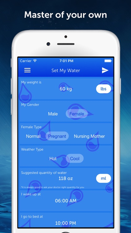 Drink Water Reminder N Tracker screenshot-1
