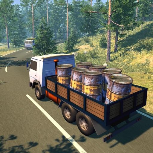Водитель русского грузовика