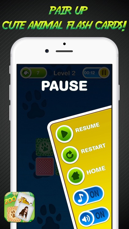 Zoo Memory Game – Animal Cards Matching Challenge for Learn.ing and Brain Train screenshot-4