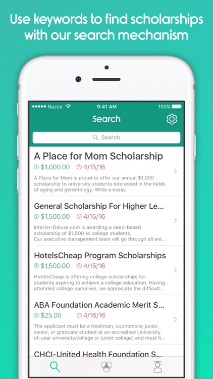 scholarships search Search the foundation's online scholarship directory.