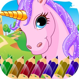 Unicorn Coloring Photobook-Fun Free Games For Kids