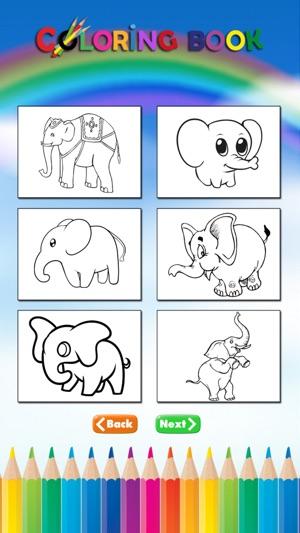 çocuklar Için Fil Boyama Kitabı Filler Ve Mamut Boya öğrenmek App