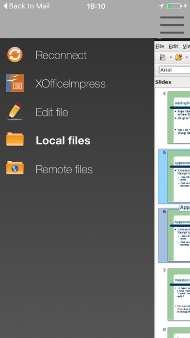 XOfficeImpress - Open Office Suite for ppt slides screenshot three